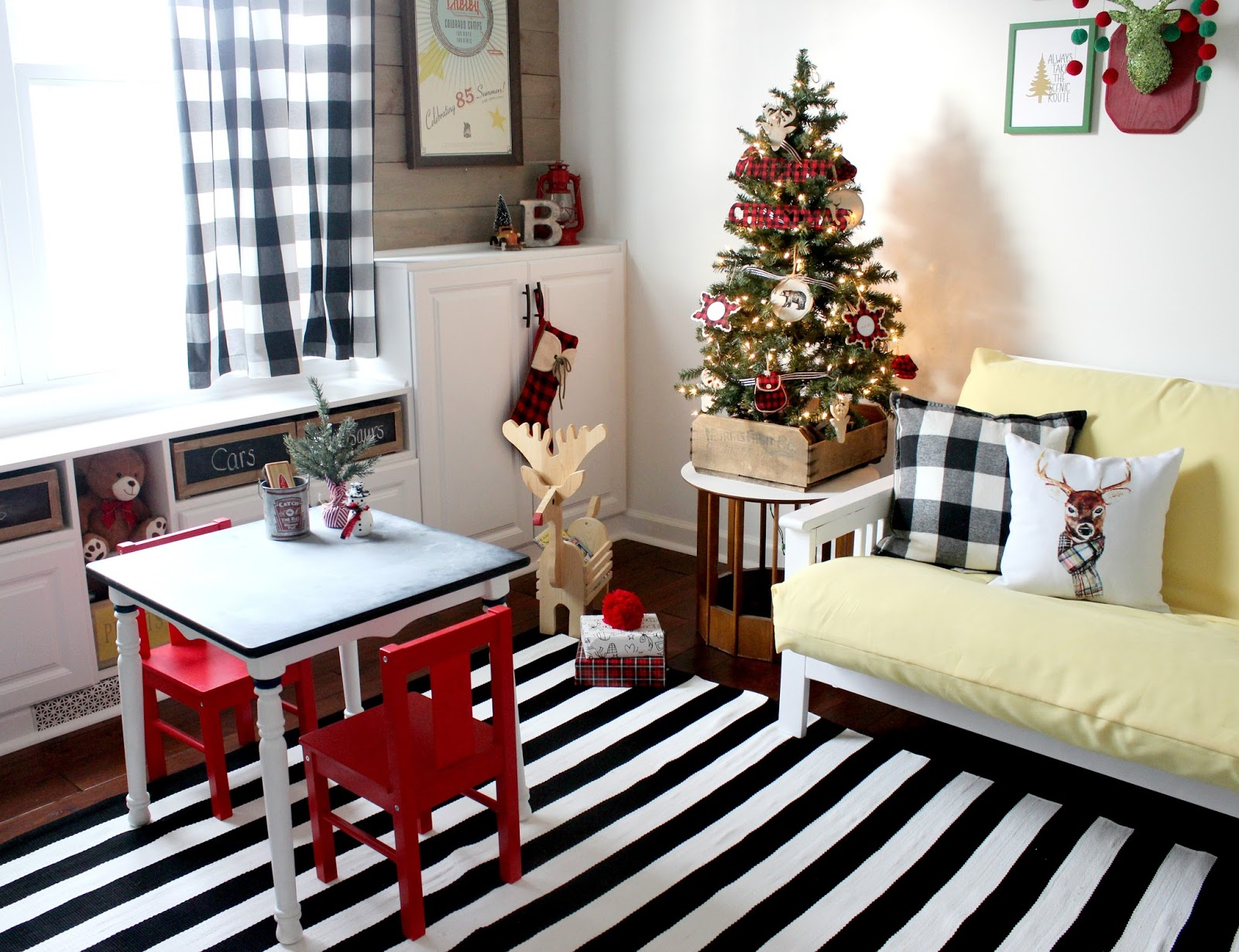 cozy christmas playroom
