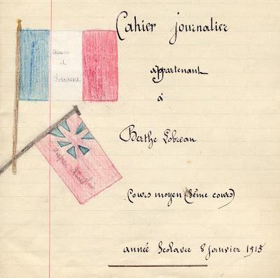 """Cahier d'élève 1915 (exposition """"Défendre la Patrie !"""")"""