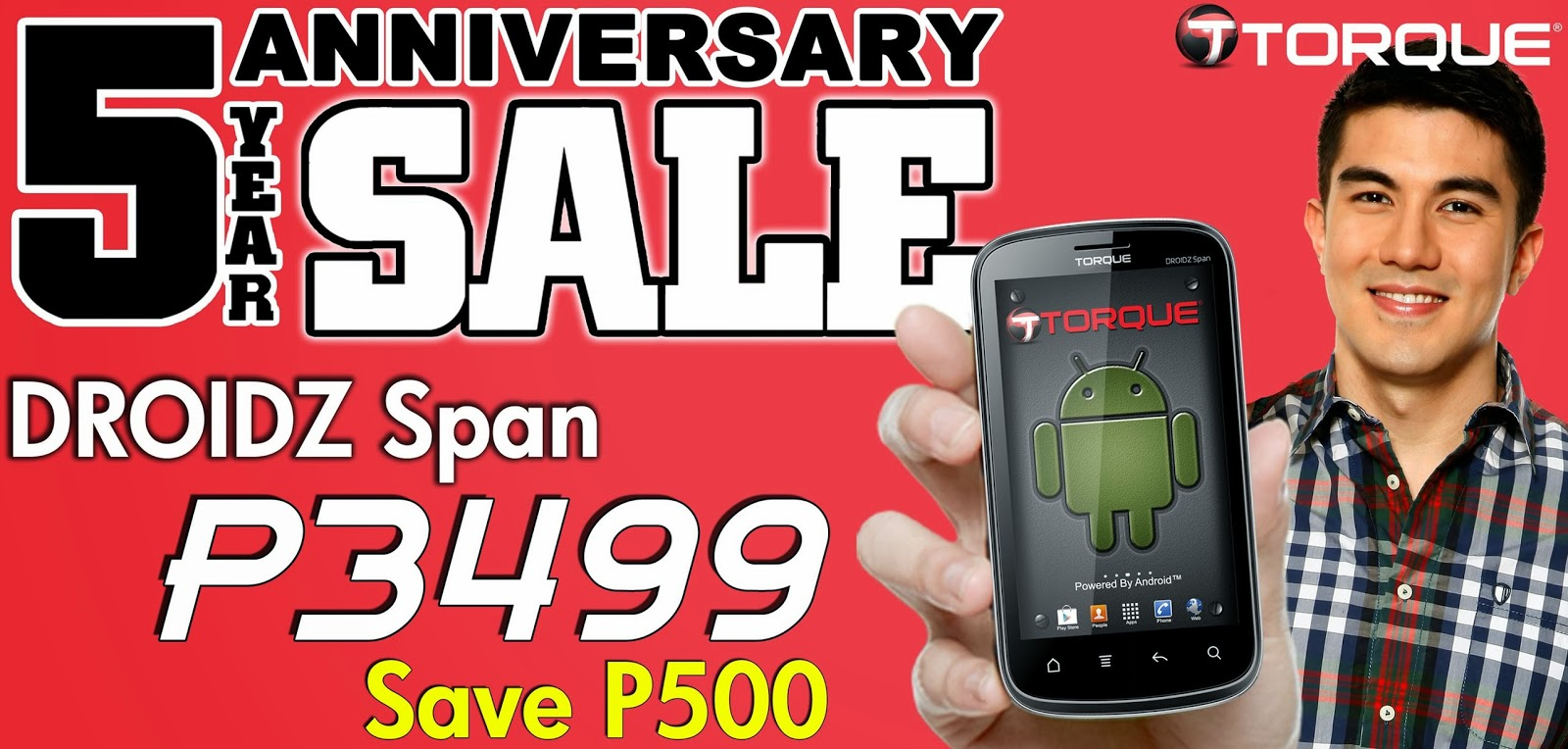 Torque Droidz Span 5-inch Android phone on Anniversary Sale Price