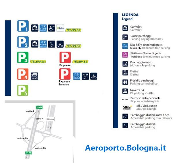 Prenotazione posto auto aeroporto bologna