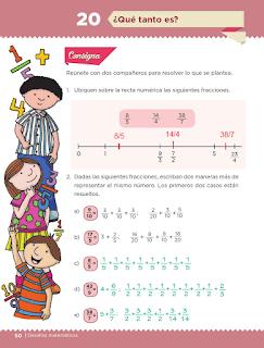 Respuestas Apoyo Primaria Desafíos Matemáticos 5to. Grado Bloque II Lección 20 ¿Qué tanto es?