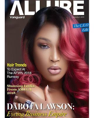 Beauty entrepreneur Dabota Lawson is coverstar for Vanguard Allure latest issue