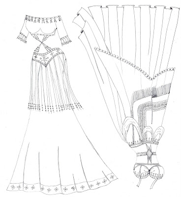 ~PAPER DOLL EVE~: Belly Dancer costumes coloring page