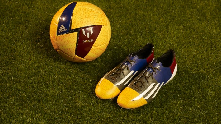 Wallpaper: Messi UEFA champions league boot by Adidas 2