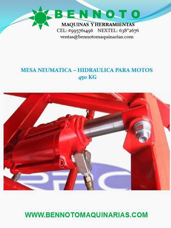 Venta de Maquinas Rectificadoras VENTA DE MESAS NEUMATICAS PARA MOTOS BENNOTO