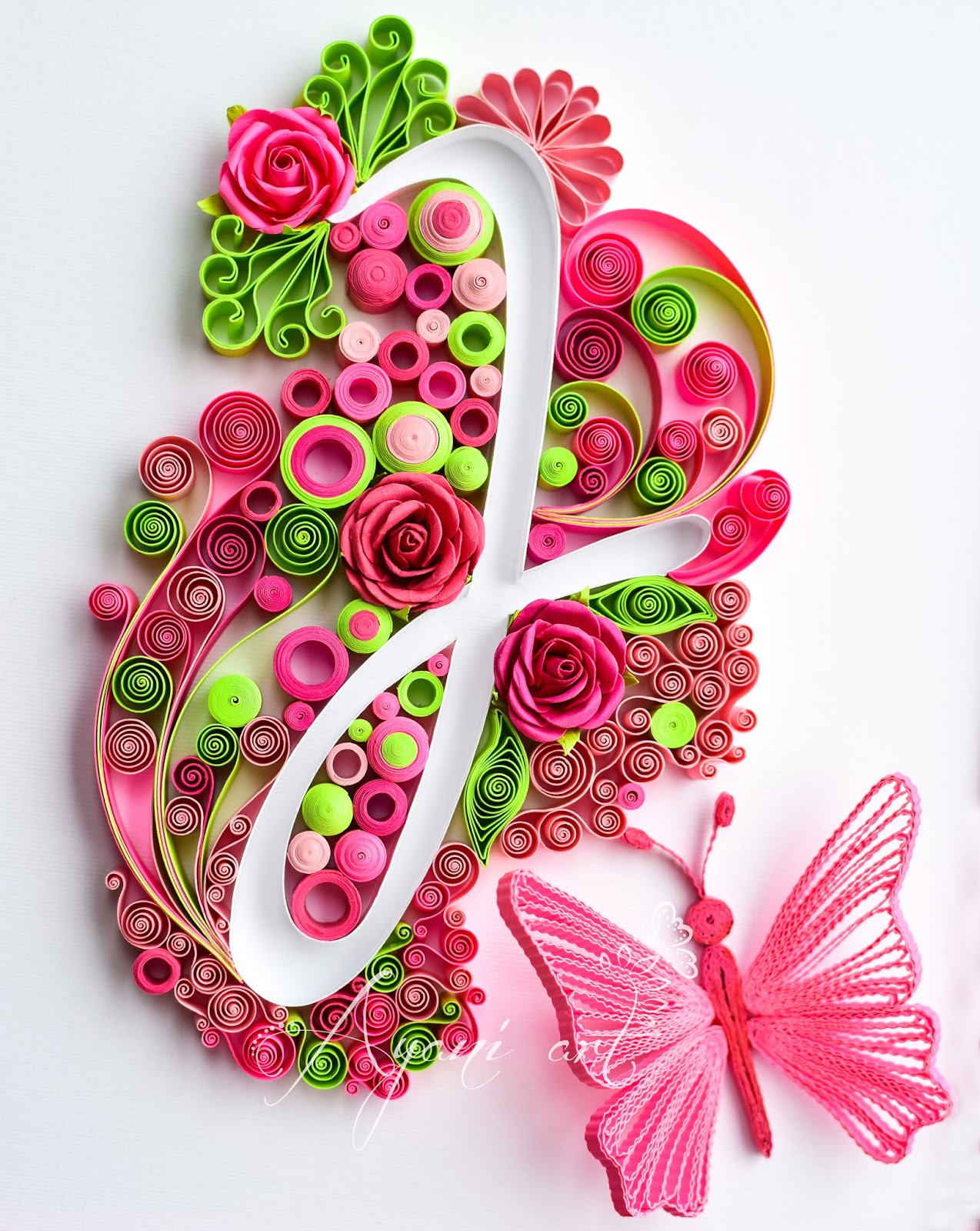 ayani art quilling typography quilling j letter