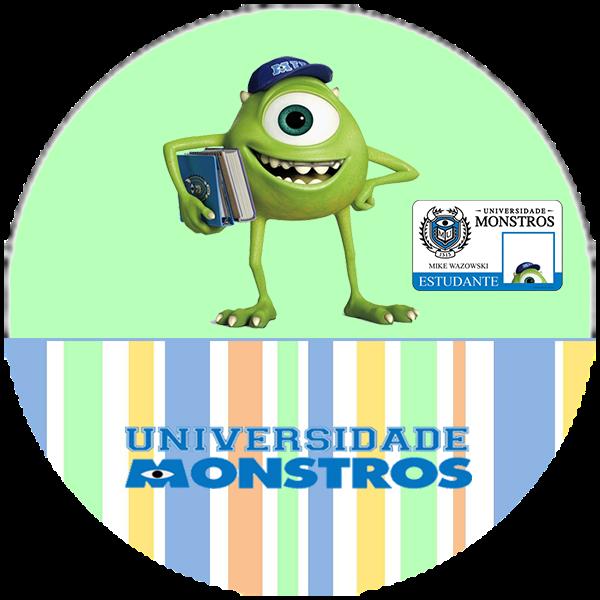 Universidad de Monstruos: Divertidos Toppers y Wrappers para Cupcakes para Imprimir Gratis.
