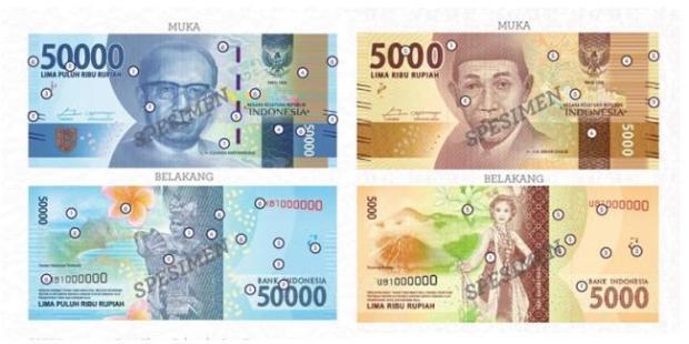 Bentuk Uang Baru Rupiah 2016