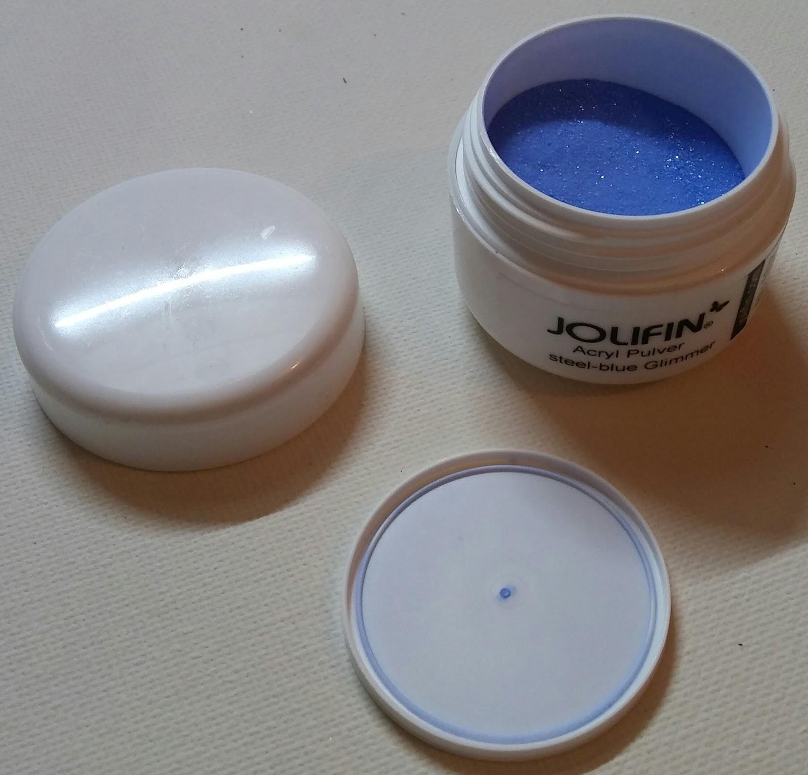 Faszinierend Gelnägel Sommer 2017 Ideen Von Jolifin: Acryl Pulver Steel-blue Glimmer Inhalt: 5