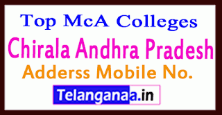 Top MCA Colleges in Chirala Andhra Pradesh