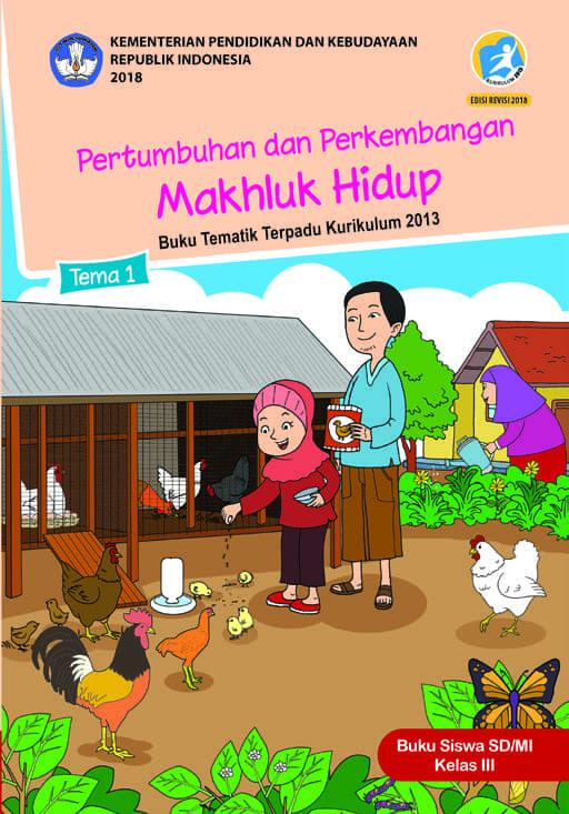 Buku Siswa Tematik SD Kelas III Tema 1 Pertumbuhan dan Perkembangan Makhluk Hidup