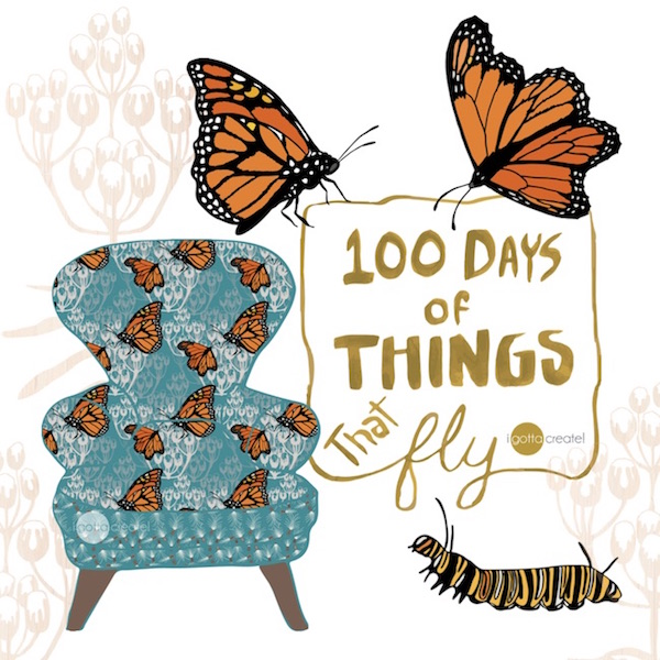 100 Days of Things that Fly | art by I Gotta Create