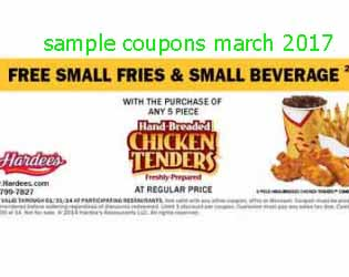 free Hardees coupons for march 2017