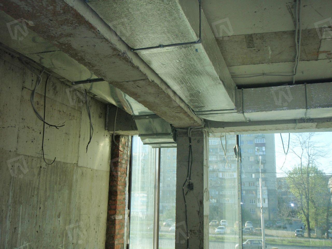 Воздуховоды выполнены из оцинкованной стали