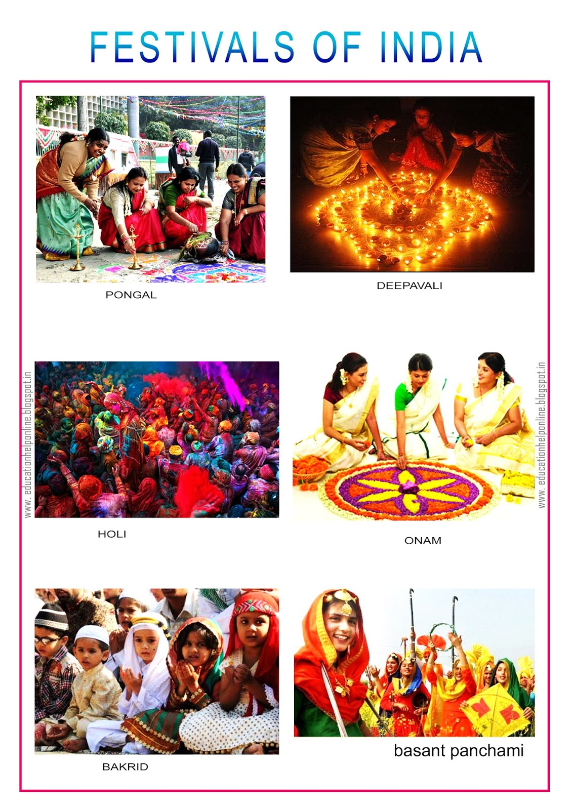 importance of festivals of india in hindi Importance of festivals of india in hindi festivals, of many types, serve to meet specific needs, as well as to provide entertainmentthese times of celebration offer a sense of belonging.