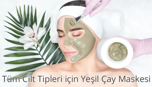 Tüm Cilt Tipleri için Yeşil Çay Maskesi