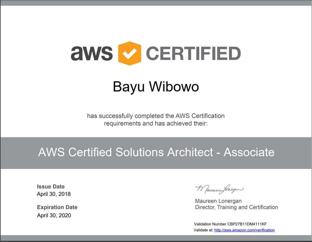 living in the cloud cadence: AWS Certified Solutions Architect ...
