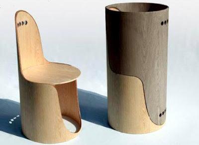Rekaan Moden Kerusi & Meja yang Kreatif - kerusi berongga