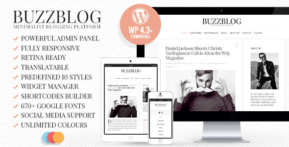 BuzzBlog WordPress Blog Theme Free Download