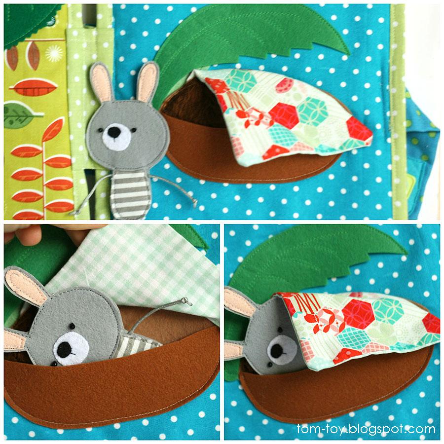 Bunny day quiet busy book for children, pretend play, bedroom, good night, развивающая книжка день зайчика, кроватка