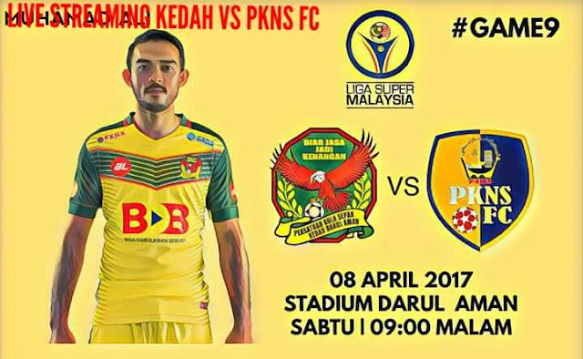 Live Streaming Kedah vs PKNS FC 8.4.2017 Liga Super