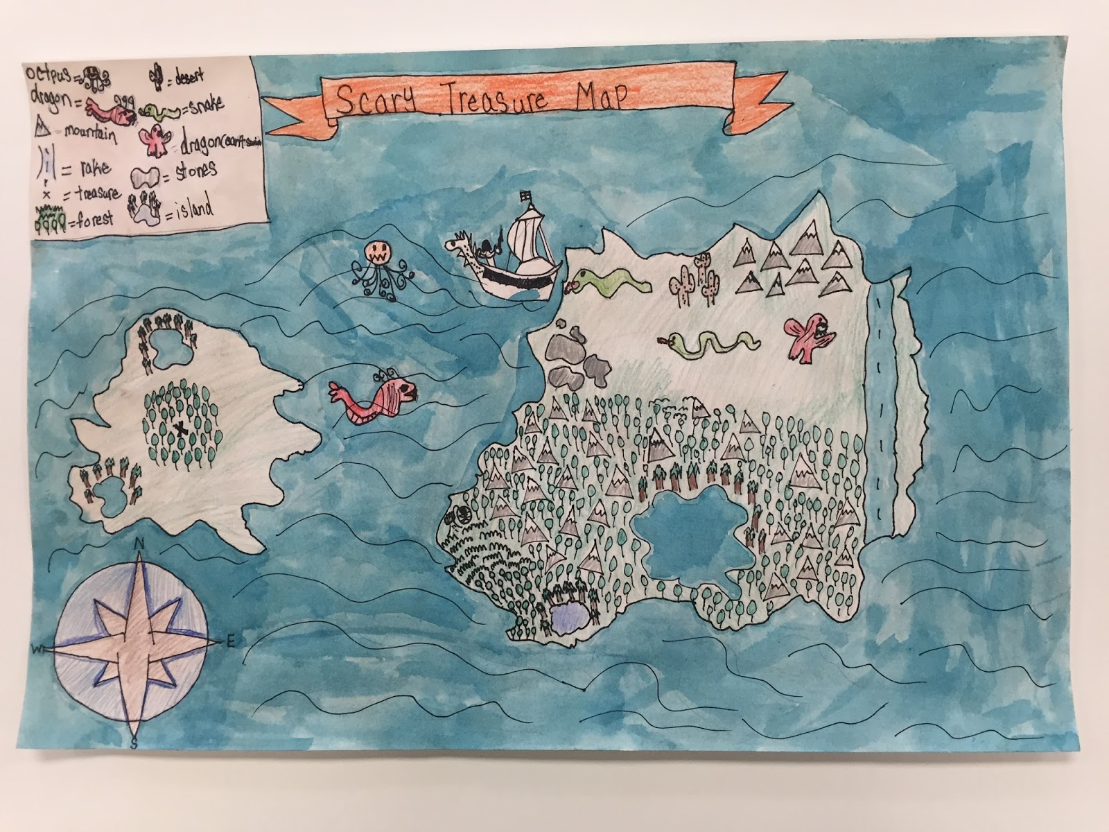 Thomas Elementary Art Ancient Maps By 3rd Grade