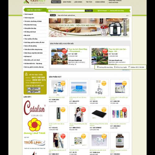 thiết kế web bán hàng gia dụng