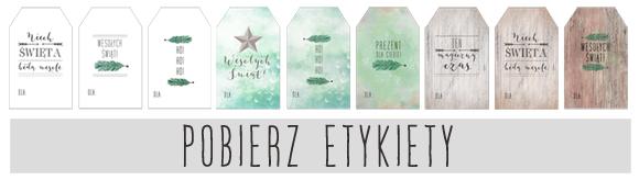 Etykiety (bileciki) do prezentów świątecznych - Projekt Ślub