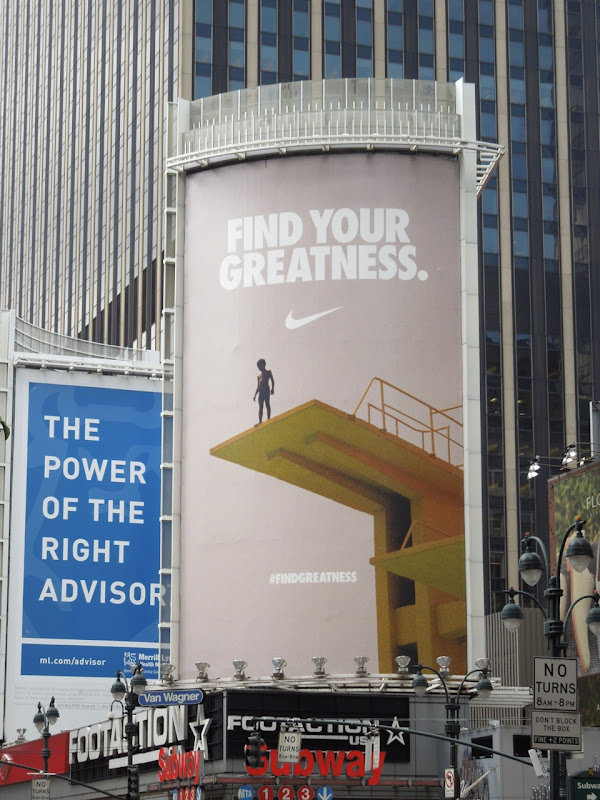 Nike Find your greatness diving board billboard