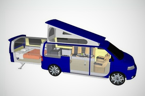 doubleback camper for volkswagen t5 transporter bonjourlife. Black Bedroom Furniture Sets. Home Design Ideas