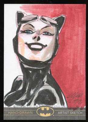 ELLIOT FERNANDEZ catwoman sketch card