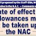 Date of effect of Allowances may not be taken up at the NAC - DoPT (Item No. 11 for discussion in NAC)