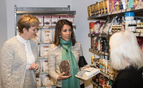 Princess Marie Attended The Opening Of Wefood Supermarket In Copenhagen