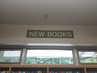 New Books sign at Little Falls Library