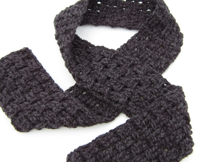 crochet, free pattern, scarf, double strand, Caron United, tutorial, triple crochet