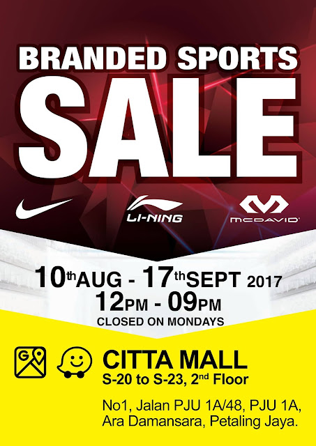 Branded Sports Warehouse SALE Citta Mall
