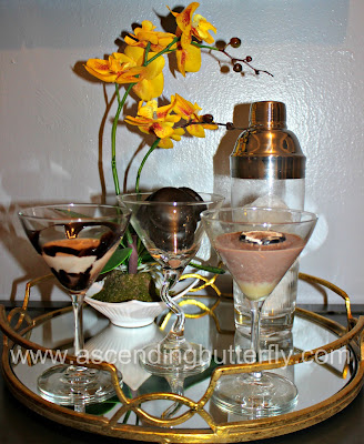 National Chocolate Lovers Month Specialty Cocktails Dark and White Chocolate Martinis, #DiscoverWorldMarket, #worldmarkettribe, martini glasses, barware, cocktail shaker, mirrored serving tray, cost plus world market