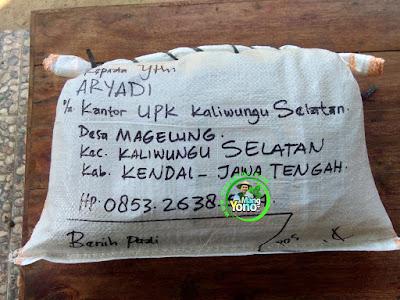 Benih pesanan ARYADI Kendal, Jateng.  (Setelah Packing)