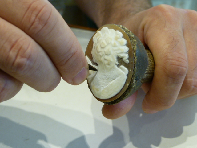 example of cameo caving