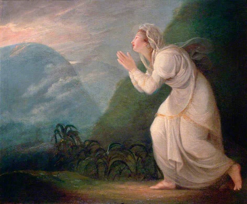 A Persian Lady Worshipping The Rising Sun (1784), Maria Cosway