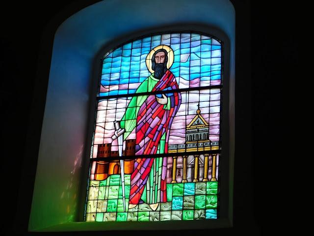 sztuka, okno, święty, gościeszyn, kościół
