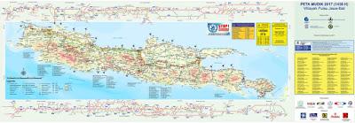 Peta Jalur Mudik Lebaran 2017.