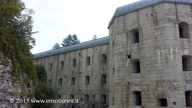 La fortezza austriaca di Forte Belvedere, risalente alla Prima Guerra Mondiale.