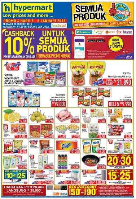 Gambar Katalog Promo Koran JSM HYPERMART 5 – 7 Januari 2018