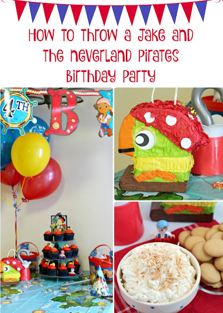 Plan a fun birthday party for your favorite pint sized pirates with my tips for Throwing a Jake and the Neverland Pirates Birthday Party.