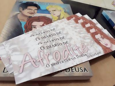Foto livro físico O Diário de Afrodite da autora Helena Leen