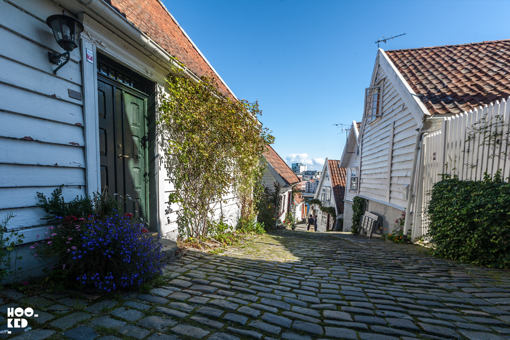 White Wooden Houses in Stavanger, Norway. Photo © Mark Rigney / Hookedblog
