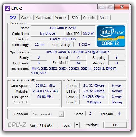 Spesifikasi CPU