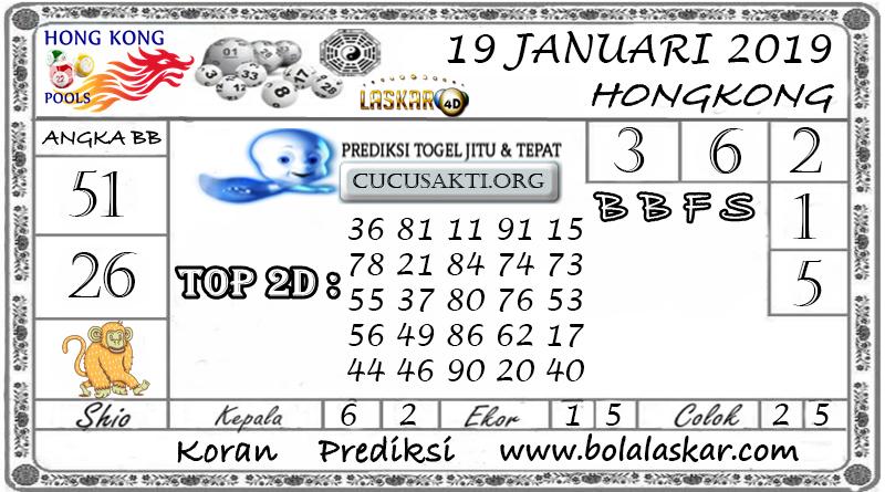 Prediksi Togel HONGKONG LASKAR4D 19 JANUARI 2019