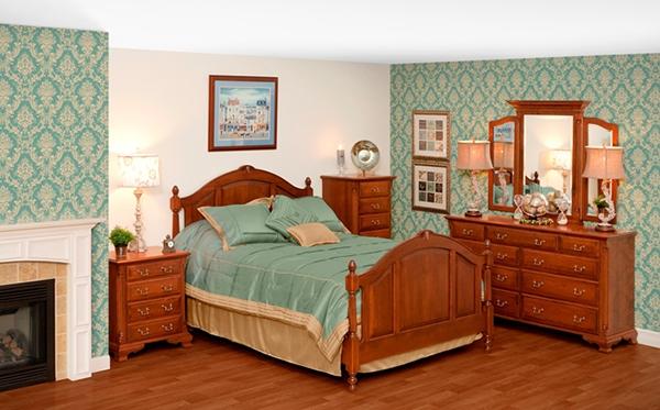 tempat tidur kayu alami tradisional brooklyn